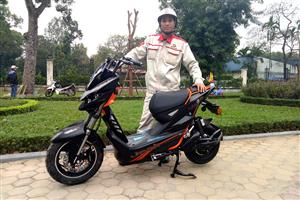 Xe máy điện Jeek Aima Suzika: Mạnh mẽ, đẳng cấp