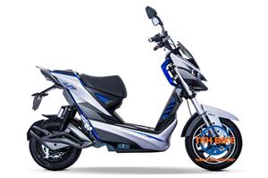 Kiểu dáng mạnh mẽ của xe máy điện Jeek Aima