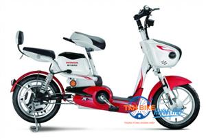 Xe đạp điện Honda M6 trắng đỏ