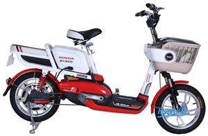 Xe đạp điện Honda A6 bản 2017 trắng đỏ