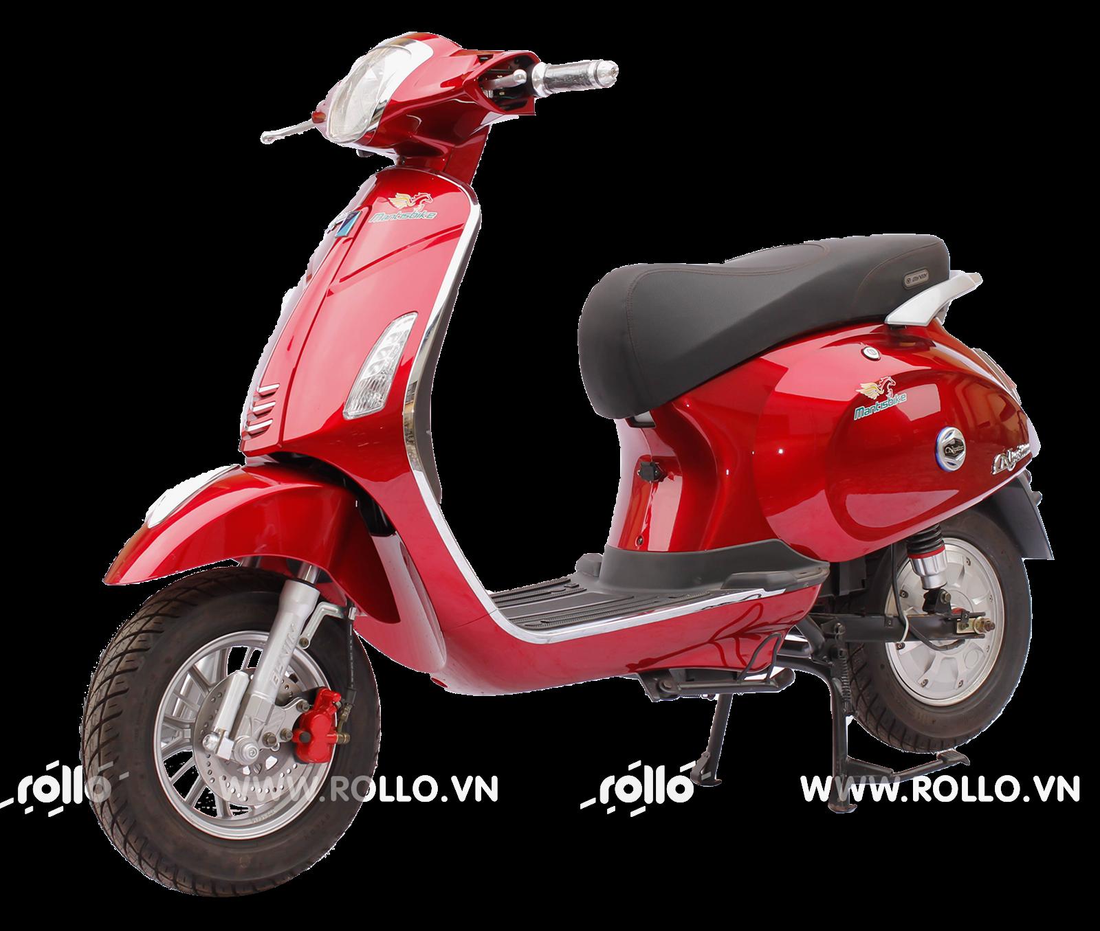 Xe máy điện Vespa Nioshima đỏ đun